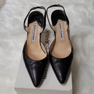 Manolo Blahnik size 38 black heels